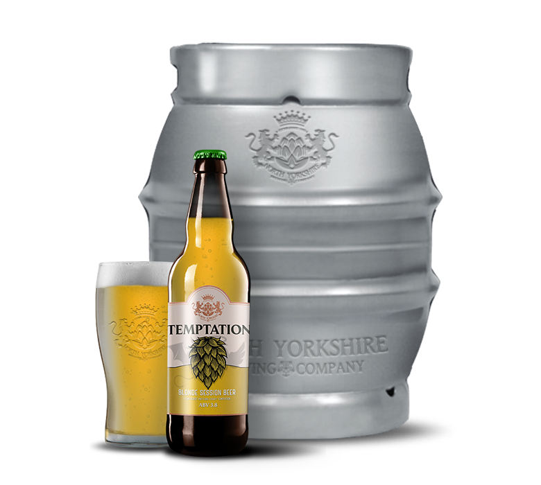 temptation beer cask by north yorkshire brewery